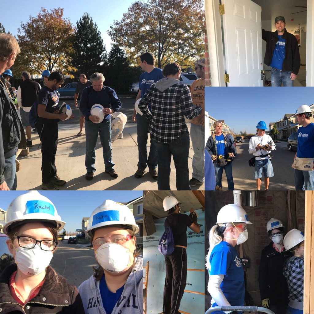 AnswerOn volunteers at Habitat for Humanity